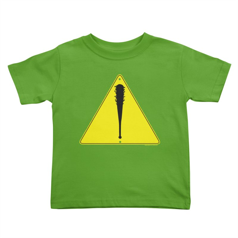 Caution Ahead Kids Toddler T-Shirt by doombxny's Artist Shop