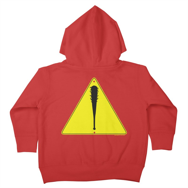 Caution Ahead Kids Toddler Zip-Up Hoody by doombxny's Artist Shop