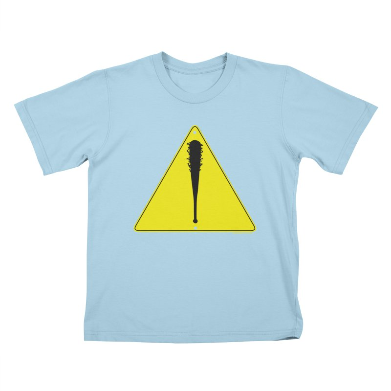 Caution Ahead Kids T-Shirt by doombxny's Artist Shop