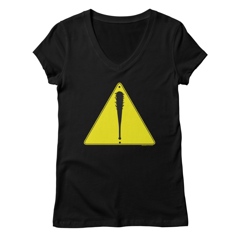 Caution Ahead Women's V-Neck by doombxny's Artist Shop