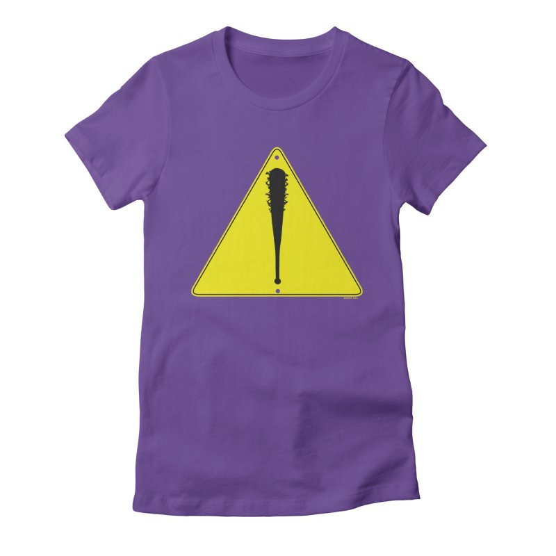 Caution Ahead Women's Fitted T-Shirt by doombxny's Artist Shop