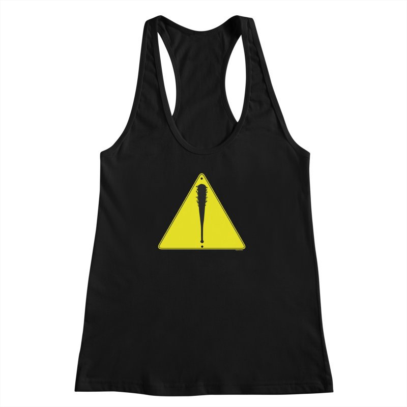Caution Ahead Women's Racerback Tank by doombxny's Artist Shop
