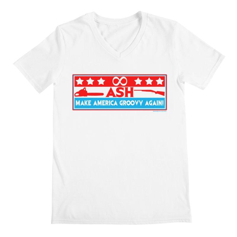 Make America Groovy Again Men's V-Neck by doombxny's Artist Shop