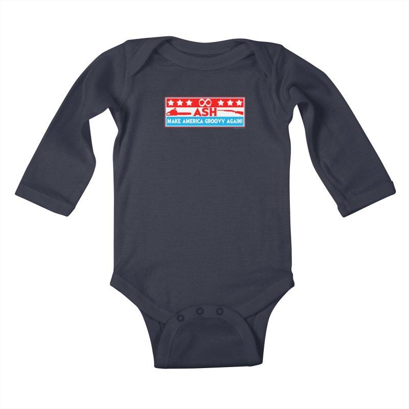 Make America Groovy Again Kids Baby Longsleeve Bodysuit by doombxny's Artist Shop