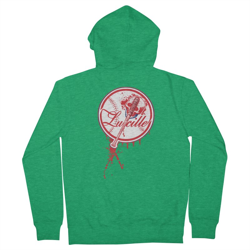 Lucille Baseball Logo Men's Zip-Up Hoody by doombxny's Artist Shop