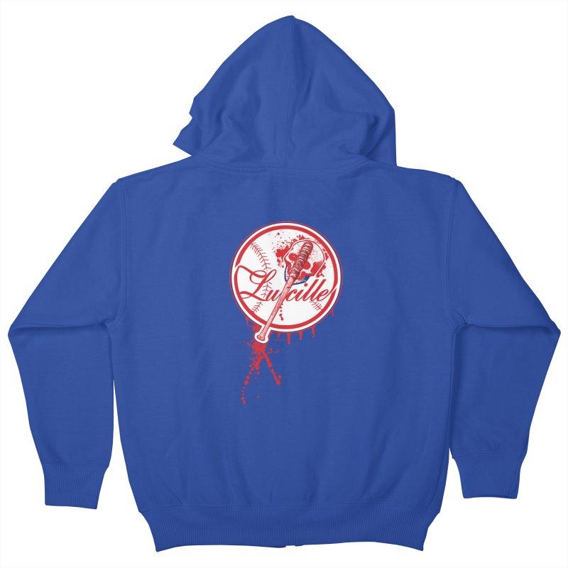 Lucille Baseball Logo Kids Zip-Up Hoody by doombxny's Artist Shop