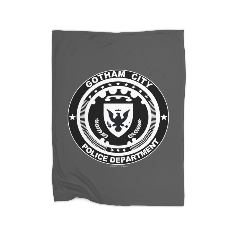Gotham PD Home Fleece Blanket Blanket by doombxny's Artist Shop