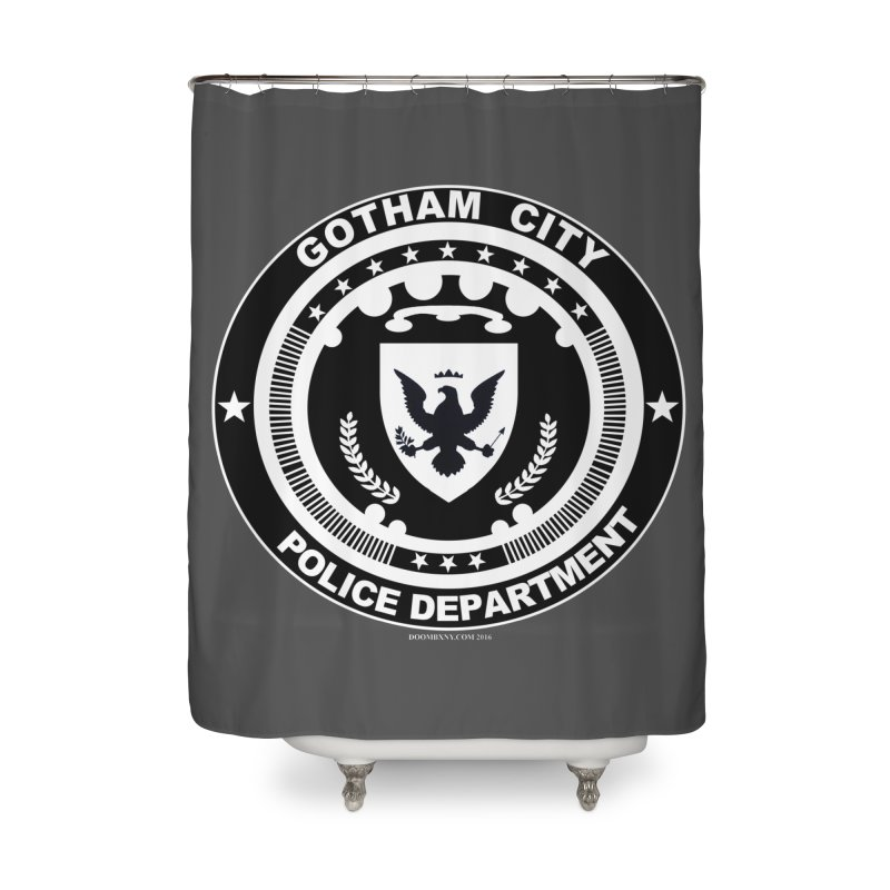 Gotham PD Home Shower Curtain by doombxny's Artist Shop