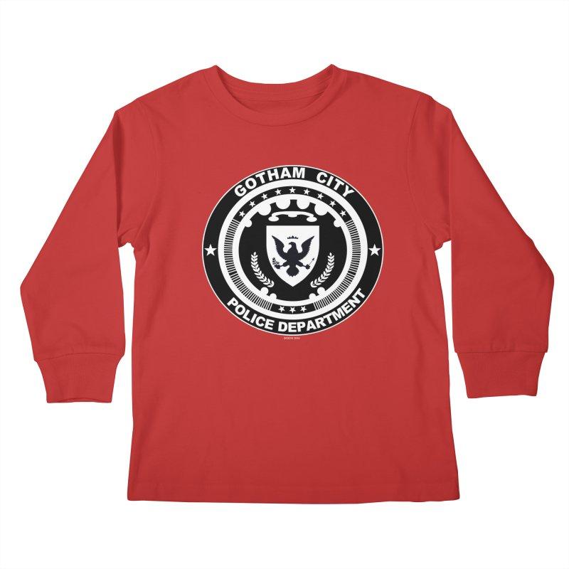 Gotham PD Kids Longsleeve T-Shirt by doombxny's Artist Shop