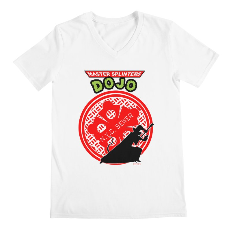 Master Splinters Dojo Men's V-Neck by doombxny's Artist Shop