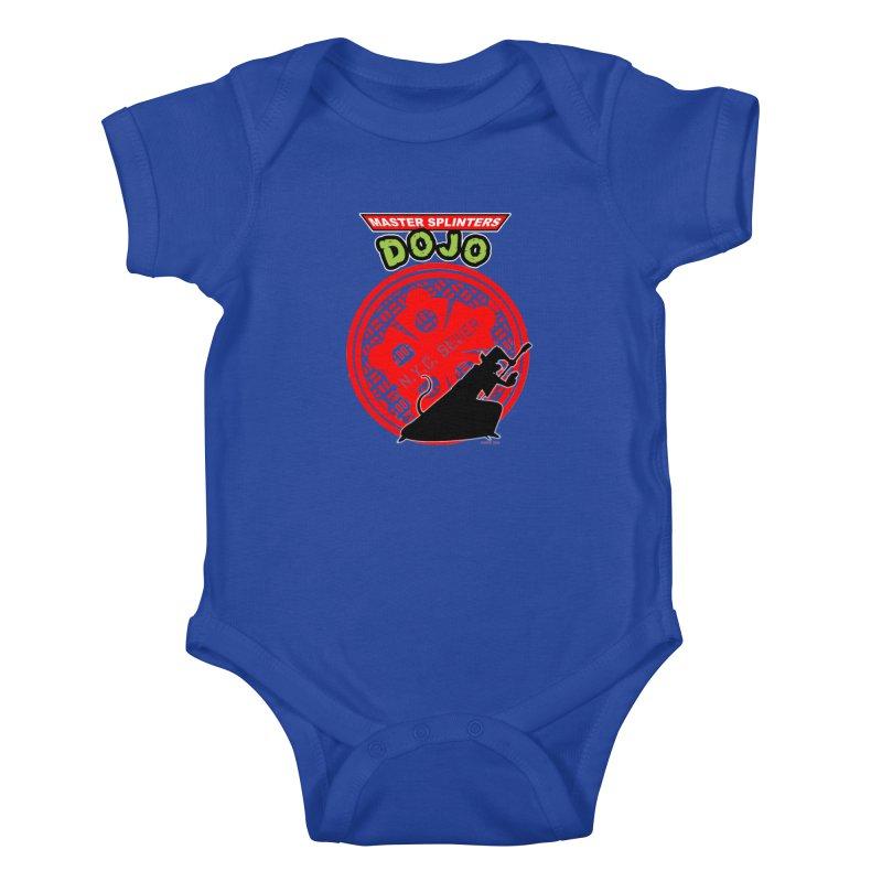 Master Splinters Dojo Kids Baby Bodysuit by doombxny's Artist Shop