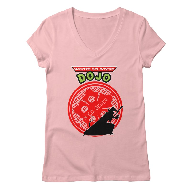 Master Splinters Dojo Women's V-Neck by doombxny's Artist Shop