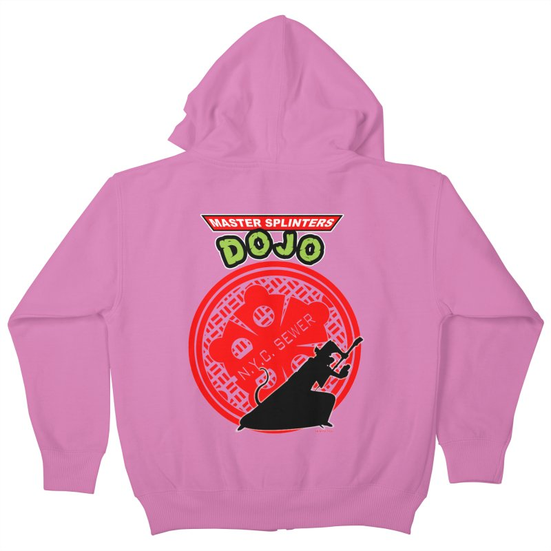 Master Splinters Dojo Kids Zip-Up Hoody by doombxny's Artist Shop