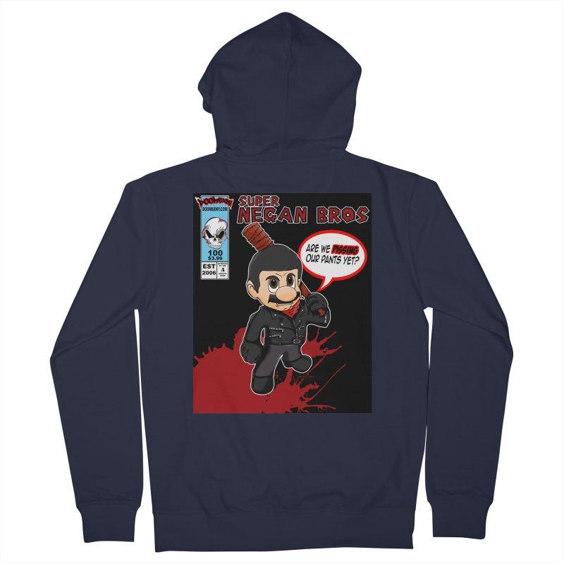 Super Negan Bros Women's Zip-Up Hoody by doombxny's Artist Shop