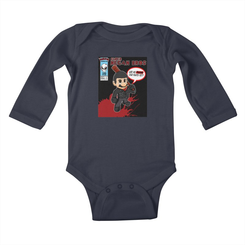 Super Negan Bros Kids Baby Longsleeve Bodysuit by doombxny's Artist Shop