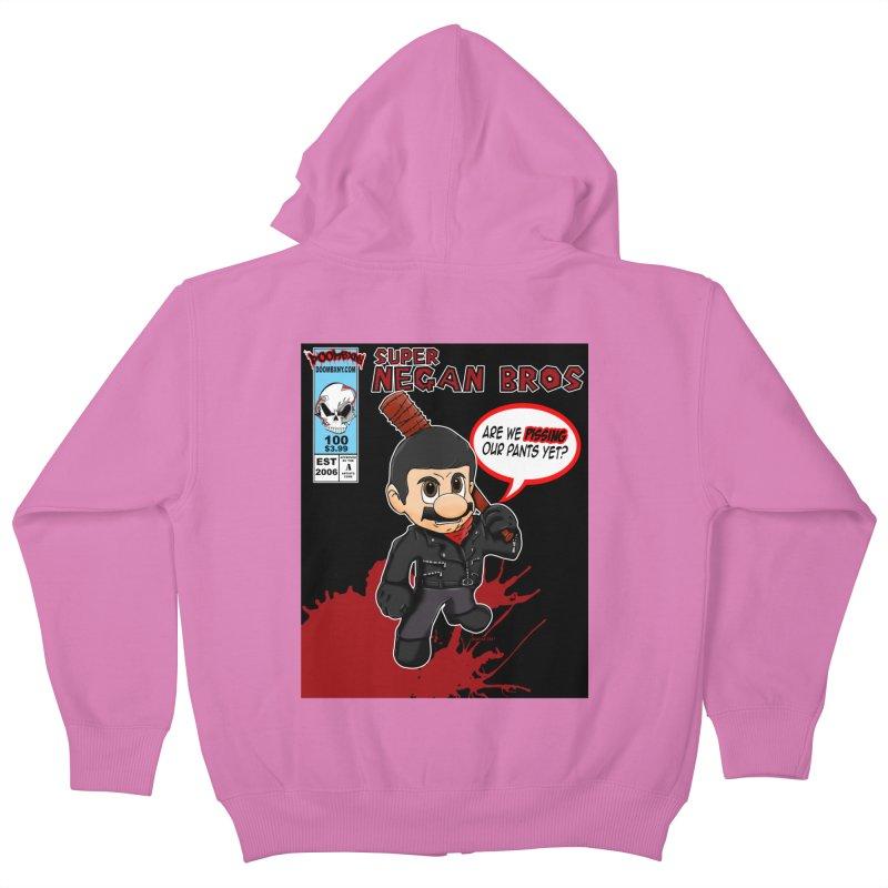 Super Negan Bros Kids Zip-Up Hoody by doombxny's Artist Shop