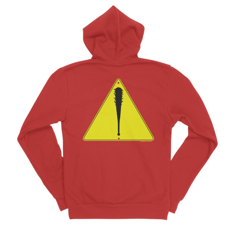 Caution bat Women's Zip-Up Hoody by doombxny's Artist Shop