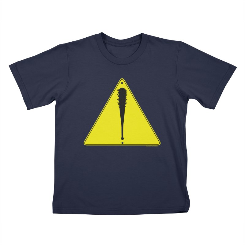 Caution bat Kids T-Shirt by doombxny's Artist Shop