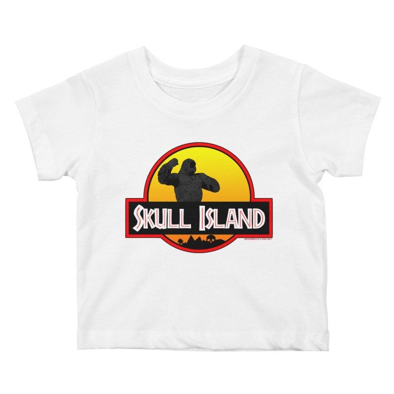Skull Island Kids Baby T-Shirt by doombxny's Artist Shop