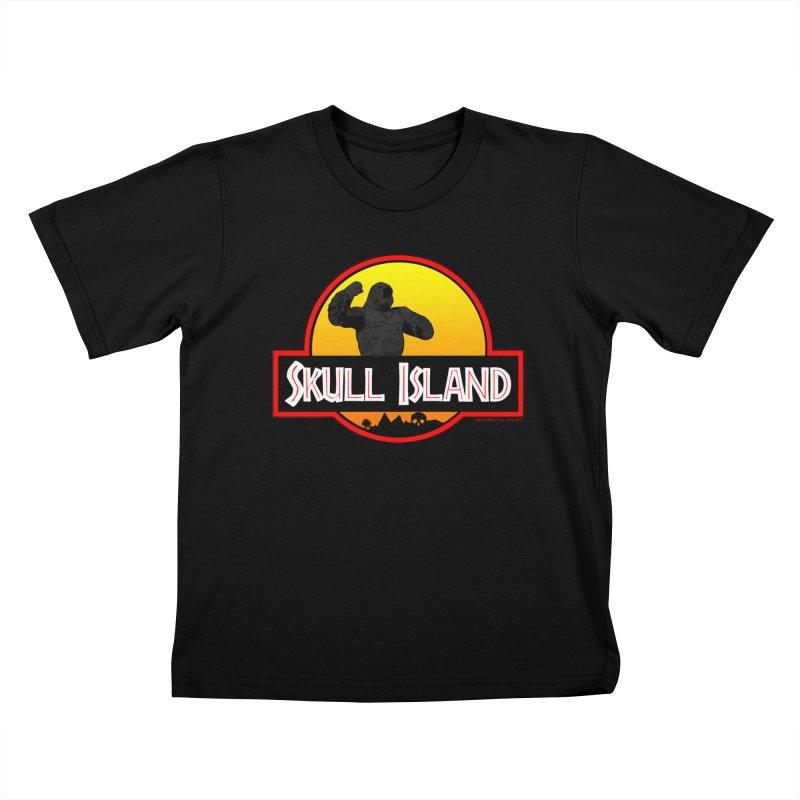 Skull Island Kids T-Shirt by doombxny's Artist Shop