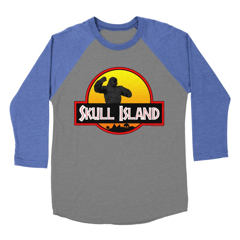 Skull Island Men's Baseball Triblend T-Shirt by doombxny's Artist Shop