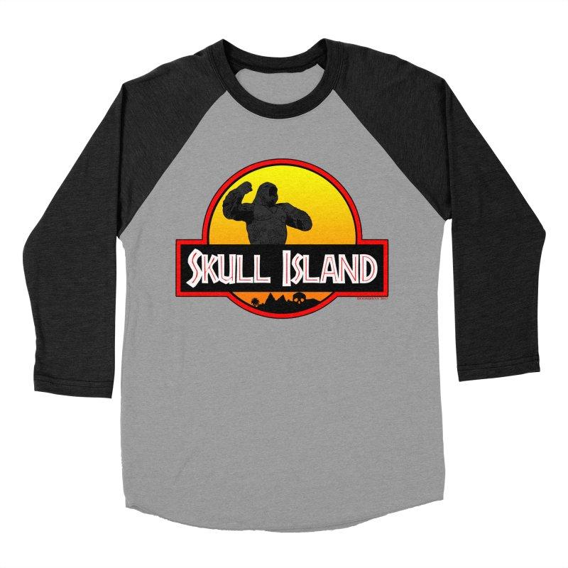 Skull Island Men's Baseball Triblend T-Shirt by doombxny's Artist Shop