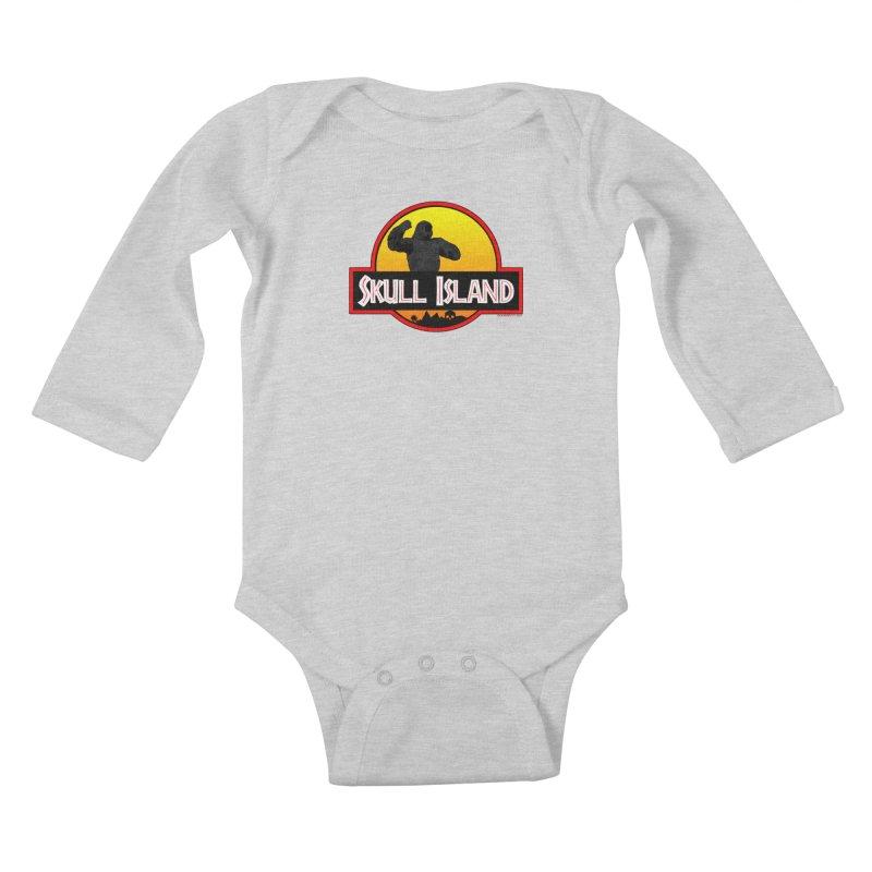 Skull Island Kids Baby Longsleeve Bodysuit by doombxny's Artist Shop