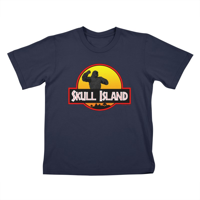 Skull Island Kids T-Shirt by doombxny's Artist Shop