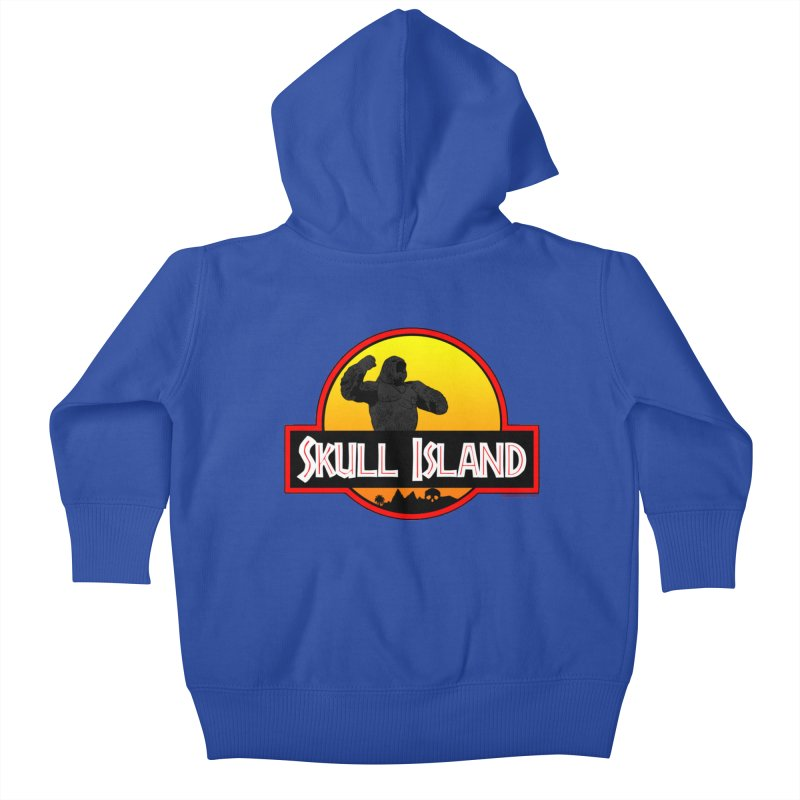 Skull Island Kids Baby Zip-Up Hoody by doombxny's Artist Shop