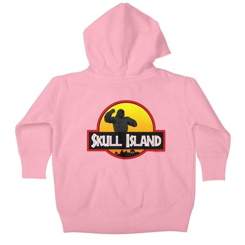 Skull Island Kids Baby Zip-Up Hoody by doombxny's Artist Shop