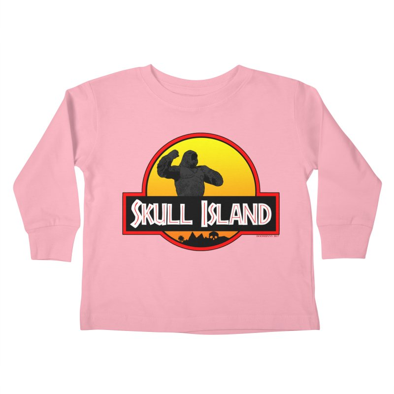 Skull Island Kids Toddler Longsleeve T-Shirt by doombxny's Artist Shop