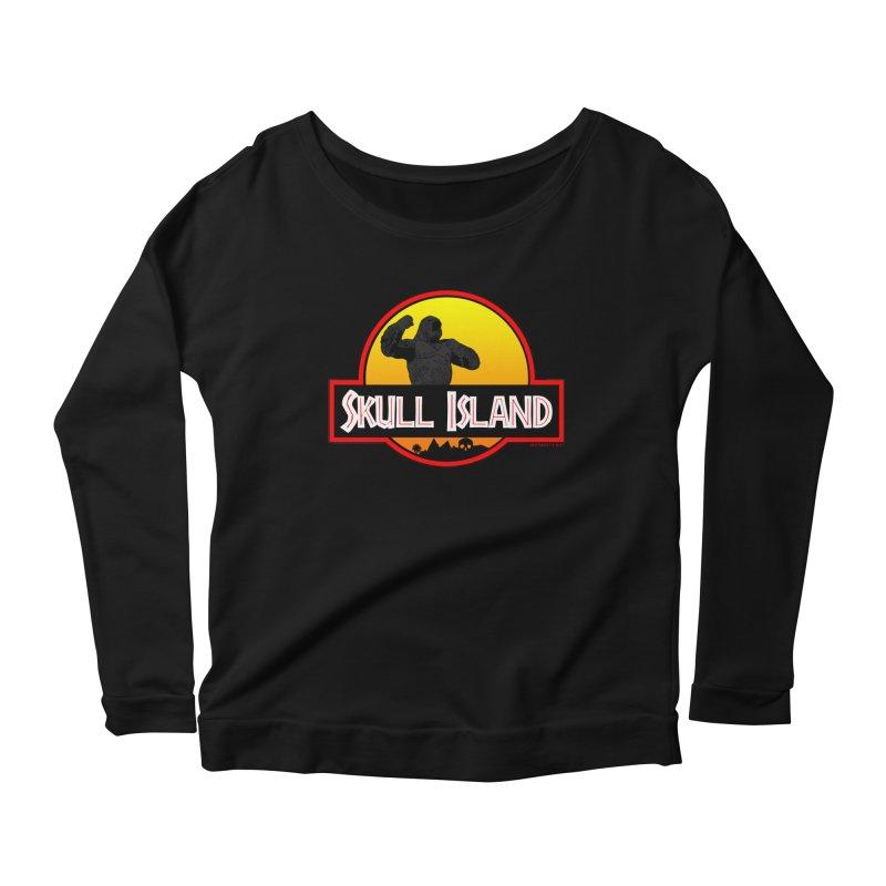 Skull Island Women's Longsleeve Scoopneck  by doombxny's Artist Shop