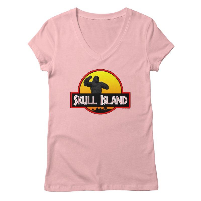 Skull Island Women's V-Neck by doombxny's Artist Shop