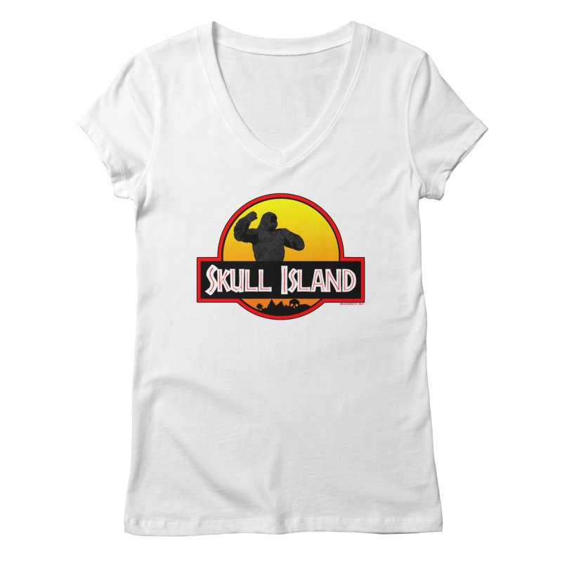 Skull Island Women's V-Neck by doombxny's Artist Shop