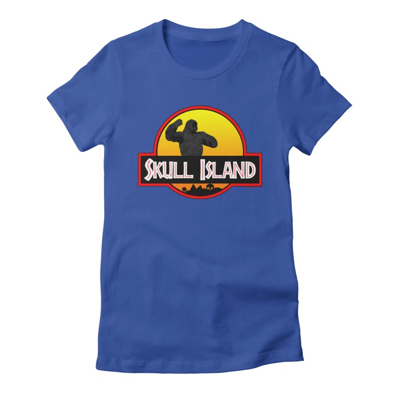 Skull Island Women's Fitted T-Shirt by doombxny's Artist Shop