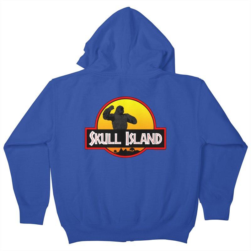 Skull Island Kids Zip-Up Hoody by doombxny's Artist Shop