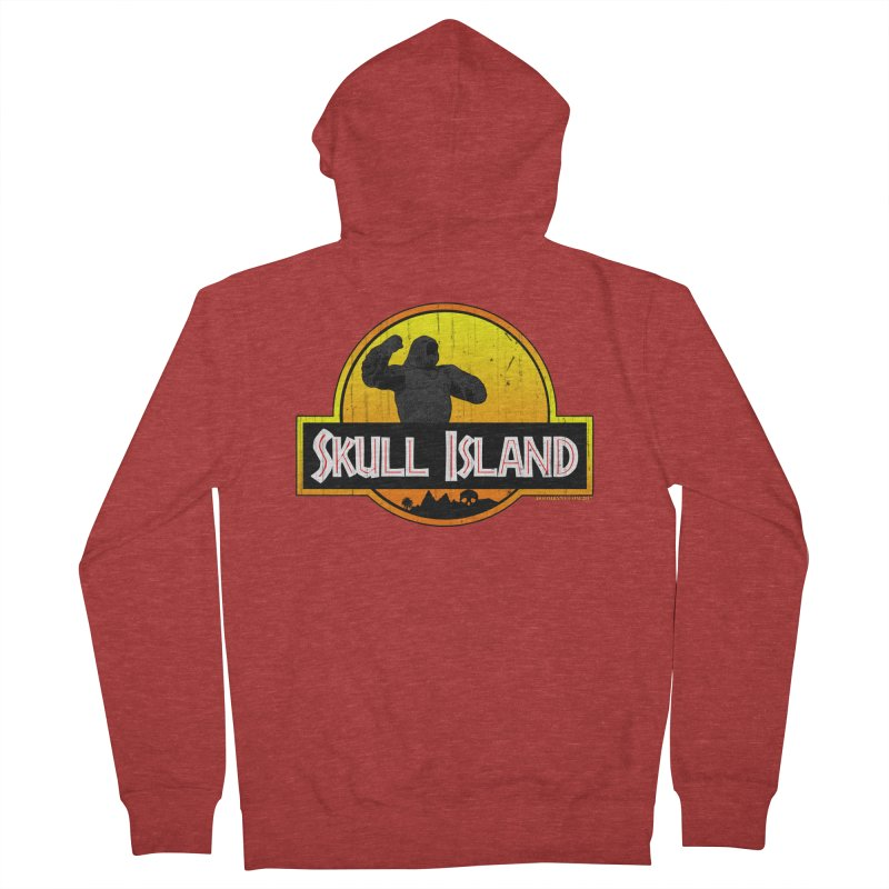 Skull Island Distressed  Women's French Terry Zip-Up Hoody by doombxny's Artist Shop