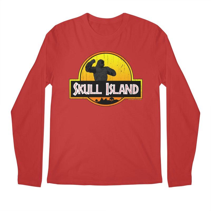 Skull Island Distressed  Men's Regular Longsleeve T-Shirt by doombxny's Artist Shop