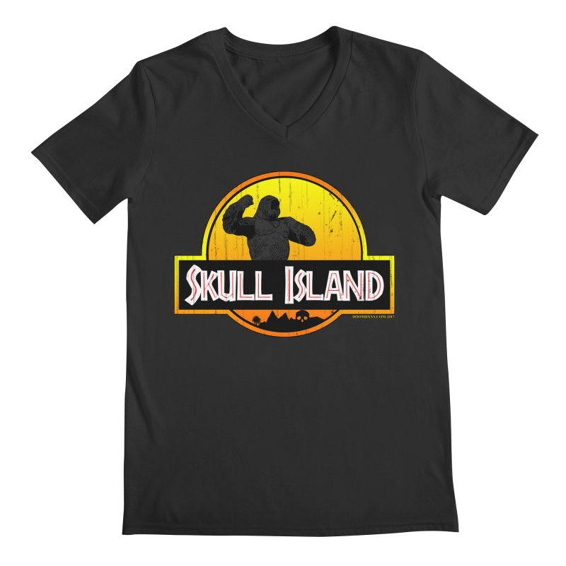 Skull Island Distressed  Men's V-Neck by doombxny's Artist Shop