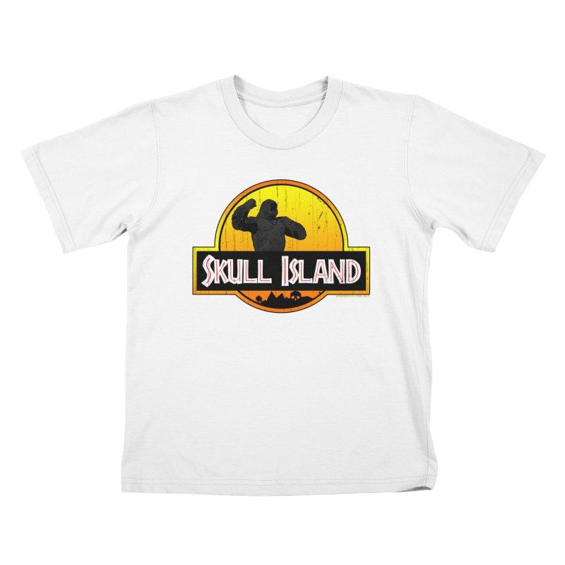Skull Island Distressed  Kids T-Shirt by doombxny's Artist Shop