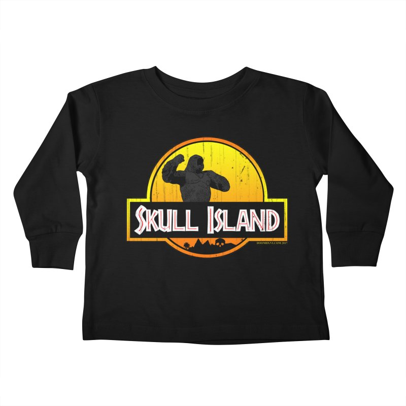 Skull Island Distressed  Kids Toddler Longsleeve T-Shirt by doombxny's Artist Shop