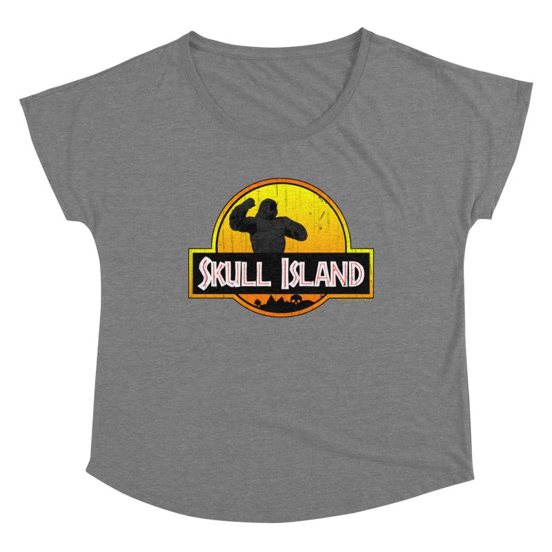 Skull Island Distressed  Women's Scoop Neck by doombxny's Artist Shop