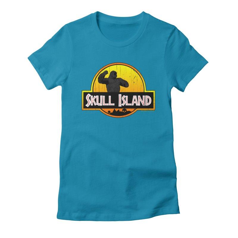 Skull Island Distressed  Women's T-Shirt by doombxny's Artist Shop