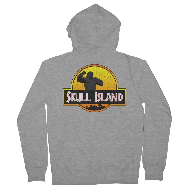 Skull Island Distressed  Men's Zip-Up Hoody by doombxny's Artist Shop