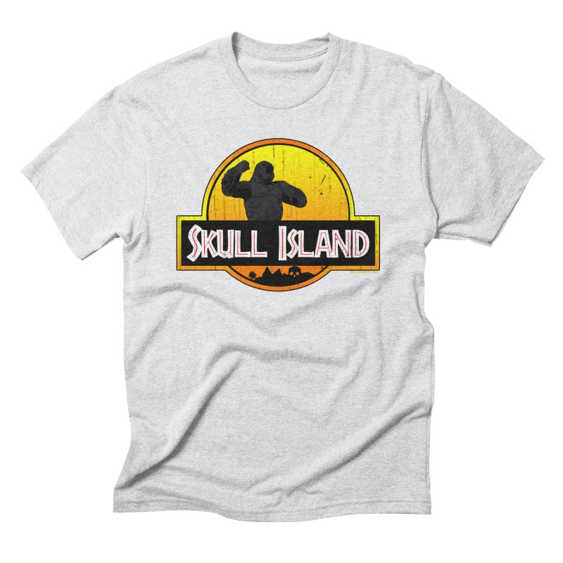Skull Island Distressed  Men's Triblend T-Shirt by doombxny's Artist Shop