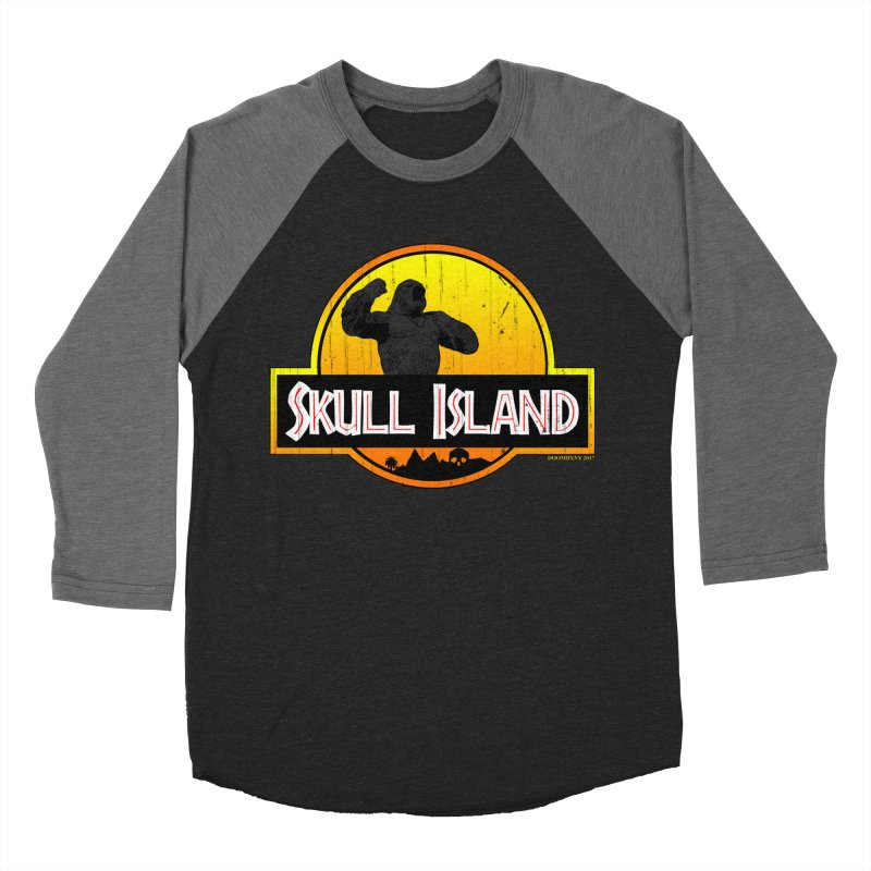 Skull Island Distressed  Women's Baseball Triblend T-Shirt by doombxny's Artist Shop