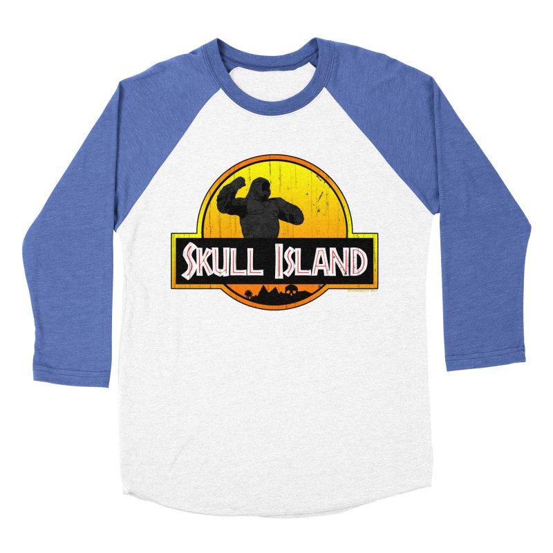 Skull Island Distressed  Men's Baseball Triblend T-Shirt by doombxny's Artist Shop