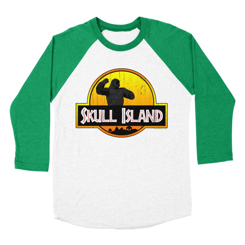 Skull Island Distressed  Men's Baseball Triblend T-Shirt by doombxny's Artist Shop