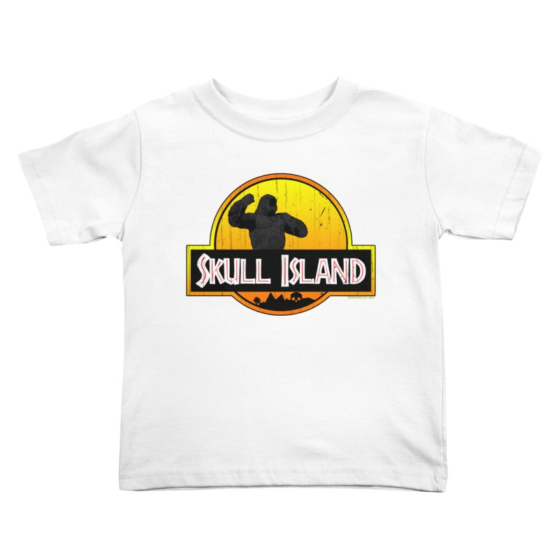 Skull Island Distressed  Kids Toddler T-Shirt by doombxny's Artist Shop
