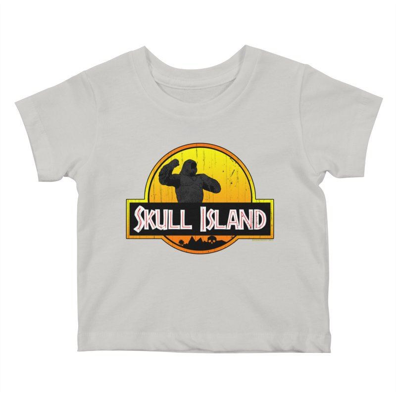 Skull Island Distressed  Kids Baby T-Shirt by doombxny's Artist Shop
